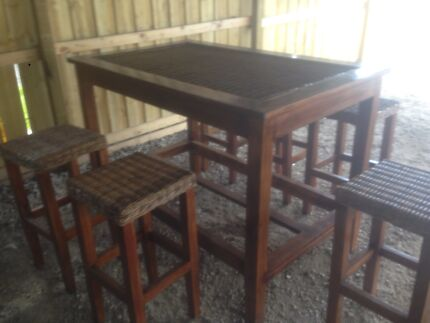 Bar table chairs and six stalls excellent condition