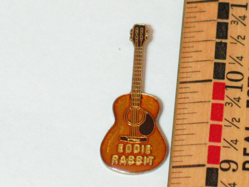 Vintage Eddie Rabbit Guitar  Pin ,Lapel Pin, Hat Tack ,(#63) (**)