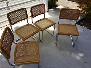 4 Cane and chrome frame chairs Rose Bay Eastern Suburbs Preview