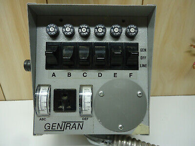 Gentran 30408 Manual Transfer Switch 7500w 120240 30a For Generator Used