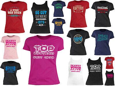 1979 Shirt - 40 Geburtstag Damenshirt - Frauen T-Shirt  Jahrgang 1979 - Geb 40 ()