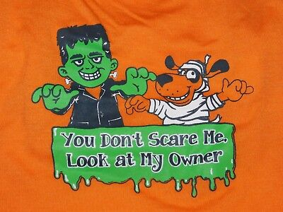 Halloween Dog Costume Puppy Scary Owner Clothes Clothing T Shirt Size Medium