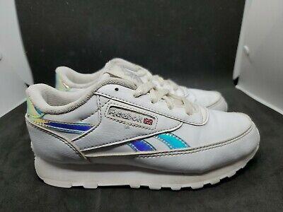 Reebok Classic Toddler Sneaker Running Shoe White Holographic Size 12c Girls  ()