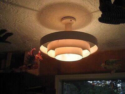 78 Vintage Teak Ceiling Light lamp fixture midcentury Danish modern pendant swag