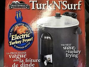 Electric turkey deep fryer.