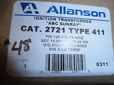 Allanson Abc Sunray Cat 2721 Type 411 Ignition Transformer