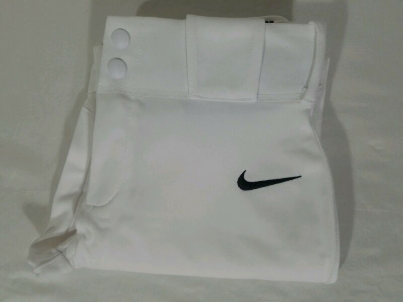 Nike Vapor Pro Full Length Baseball Pants Size XS-XL Youth Boys White 747237-100