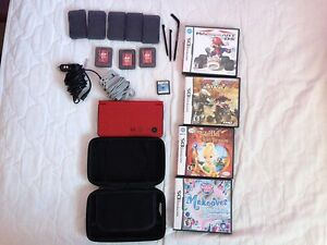 DS XL with games