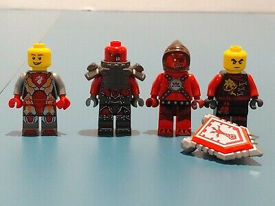 LEGO LOT OF 4 NEXO KNIGHT MINIFIGURES CASTLE RED DEVIL Knights FIGURES