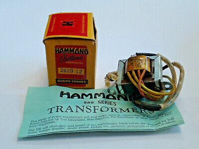 Hammond 262b12 Plate Filament Transformer Pri 115vac Sec 120vac 7va 45ma