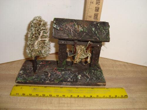 German Creche Hay Tender Loofa Tree   Manger Creche Nativity  Antique