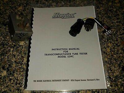 Hickok 539c Tube Tester - Accessories