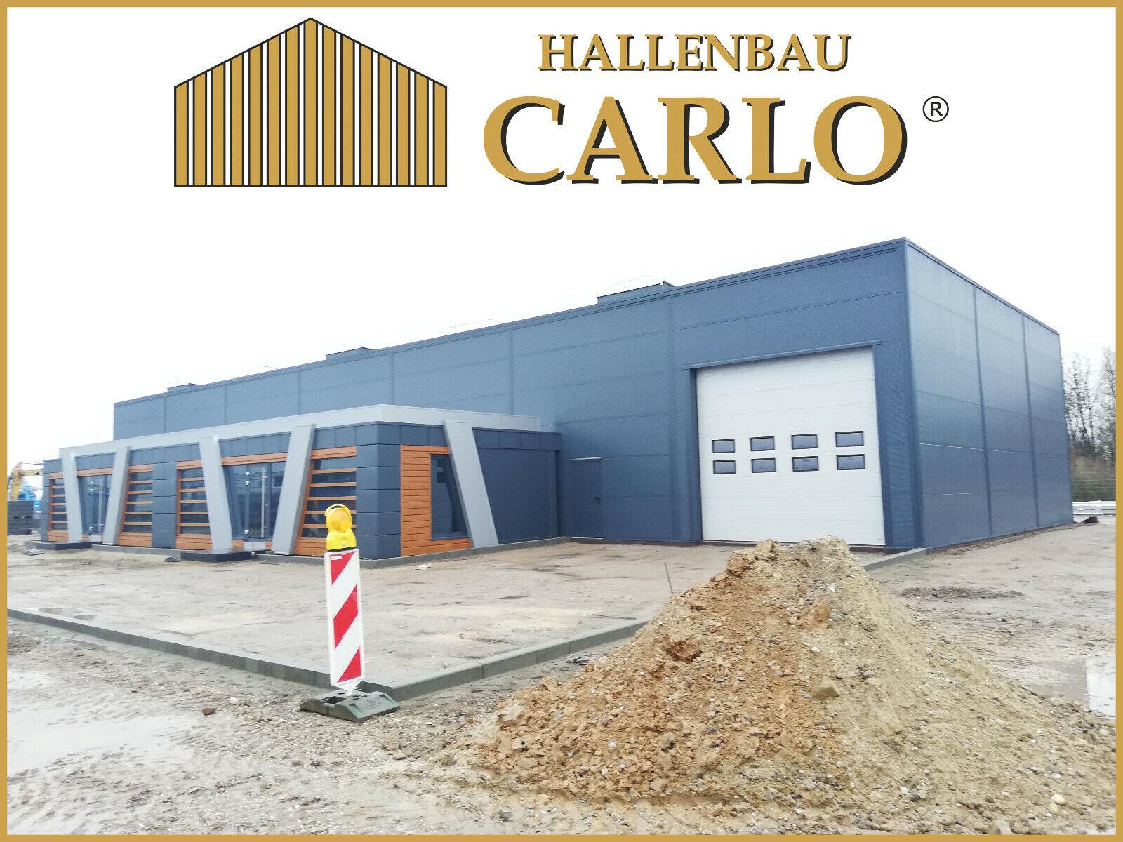 Hallenbauer Produktionshalle Werkstatt Gewerbehalle Stahlhalle 25x40x6 Halle - 214.500,00 €