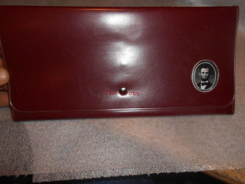 Vintage Abe Lincoln Letter Document Wallet Holder