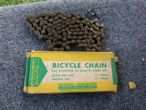 "Vintage 56"" Duckworth USA Bicycle Chain **NOS** for Schwinn with BOX"