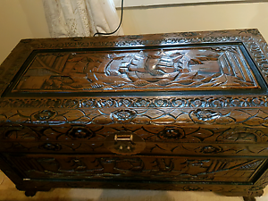 Beautiful handcrafted Camphor  wooden chest Boronia Heights Logan Area Preview