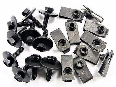 Chevy Body Bolts & U-Nuts- M6-1.0mm Thread- 10mm Hex- Qty.10 ea.- #147