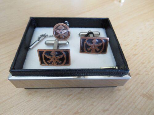 Kachina Dancer Design Solid Copper Cuff Links & Tack Pin Lot original box ESTATE
