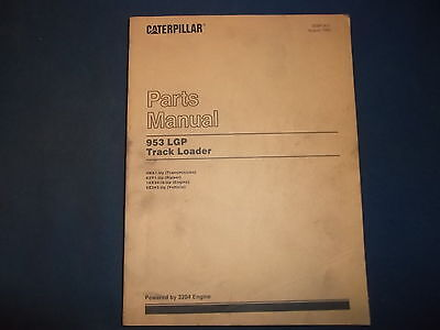 Cat Caterpillar 953 Lgp Track Loader Parts Book Manual Sn 4na1-up