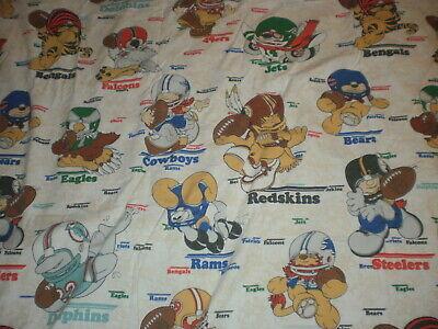Vintage NFL team flat sheet full bed Steelers Rams 49ers Bears Cowboys & (Bears Full Bed)
