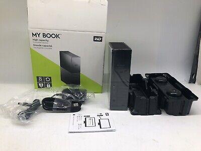 WD My Book 8TB USB 3.0 Desktop Hard Drive WDBBGB0080HBK-NESN Black