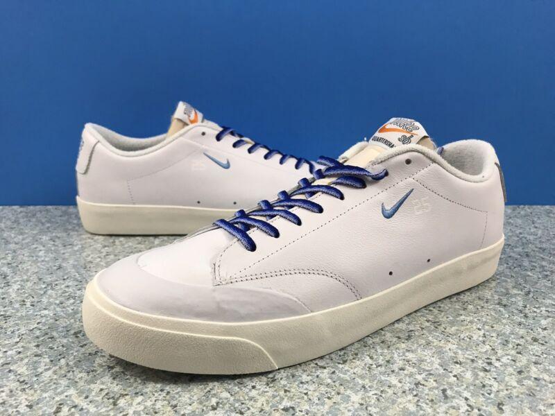 cf448566dc8bb Nike SB Blazer Low XT QS Quartersnacks White Blue Sail AQ3499-141 Men s Sz  14