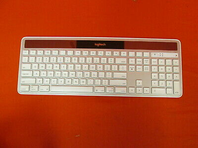 Logitech K750 Wireless Solar Keyboard For MAC Solar Friendly 2.4GHZ Silver 3152