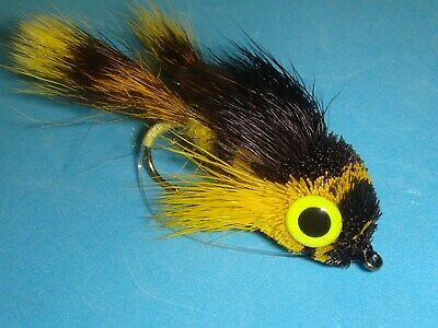 Mini Hair Diver Frog Chart//Orange//Yellow Fly Fishing Fly Select Quantity /& Size