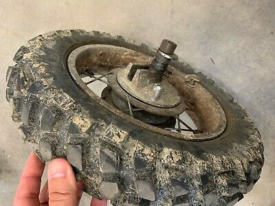 Suzuki Honda Yamaha Kawasaki 3.00 - 10 motocross tire and rear wheel assembly