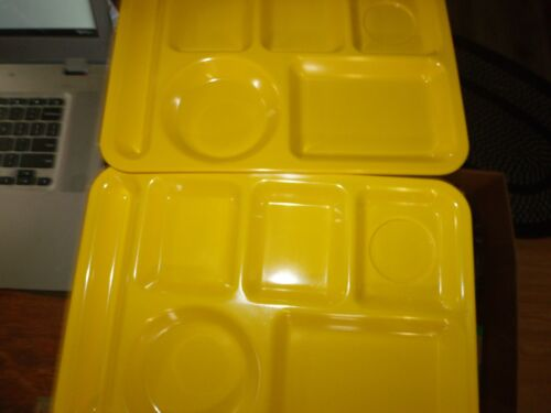 2 Vintage Antique Texas Ware #146 10x14 Yellow Lunch Tray