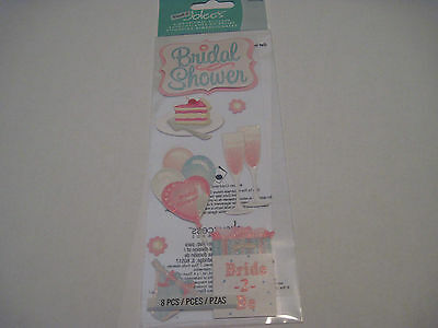 Scrapbooking Crafts Stickers Jolee's Bridal Shower Gift Balloons Cake Title More