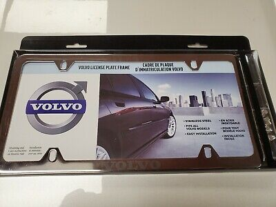 1 Brand New VOLVO chrome METAL license plate frame with acorn nuts