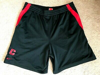 Nike FITORY Men's Black / Red Stripe Chicago Bulls Active Wear Shorts Size M