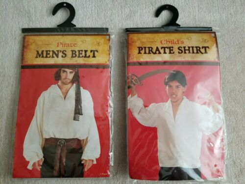 ORDER NOW FOR HALLOWEEN - Pirate Belt and Childs Pirate Shirt - Used Once