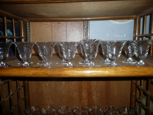12 BEAUTIFUL CAPRICE CAMBRIDGE 3 oz CRYSTAL STEMS