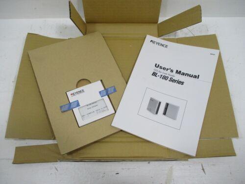 New Keyence BL-18H1E BL-180 Series Bar Code Reader Setup Software & Manual NIB