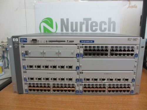 Hp Procurve Switch 4108gl J4865a W/ J4864a , 3x J4862a , J4839a , 3x J4863a