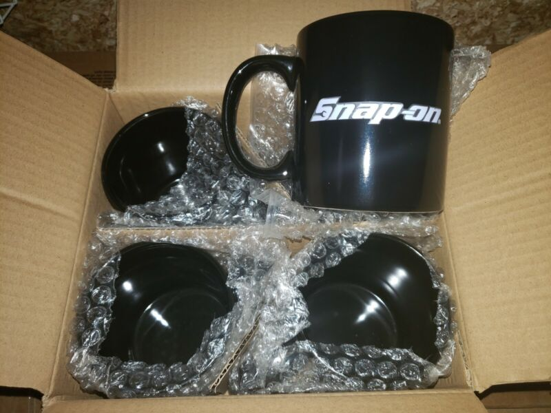 NIB Snap-On Tools SSX18R4 Color Changing Coffee Mug Set Of 4! Fast Shipping!!