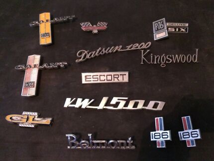 Vintage car badges