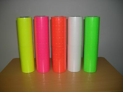 1 Case Of Mixed Color Labels For Motex 5500  1000 X 200 Rolls