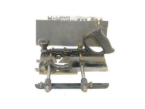 EXTRA NICE  STANLEY # 45 COMBINATION PLOW PLANE EARLY TYPE 3  & CUTTERS T1014
