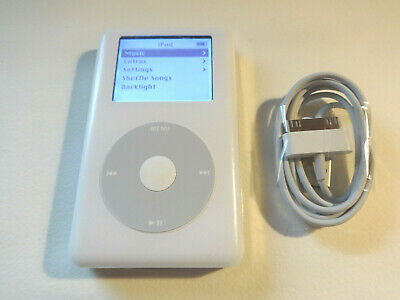 APPLE  iPOD  CLASSIC  4TH GEN.  WHITE  20GB...NEW BATTERY... (Apple 20gb Ipod)