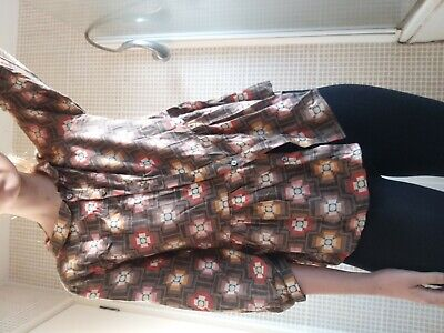Vintage style Orla Kiely for Uniqlo Ladies floral Blouse with peplum detail