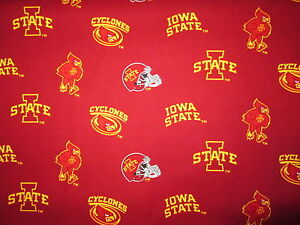 IOWA STATE CYCLONES COLLEGE OVERALL COTTON FABRIC BTHY