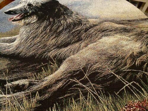 Scottish Deerhound Robert May Large Blanket Throw NWOT Pure Country Weavers