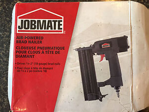 JOBMATE Air-Powered Brad Nailer