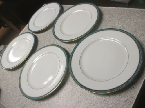 "5 Ceralene Limoges A Raynaud Laurier Blue dessert or salad plate? 7 5/8"" dia"