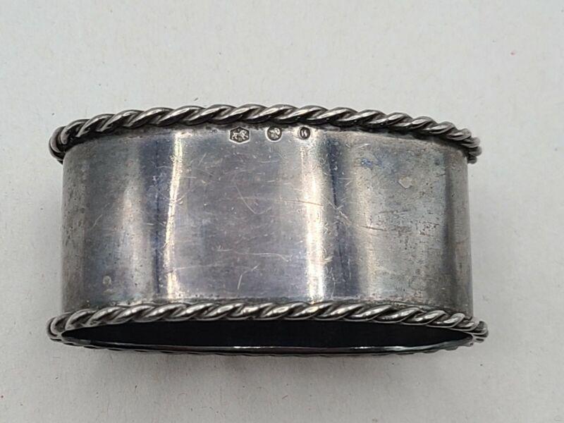 Sterling Silver Oval Napkin Ring Vintage 1950