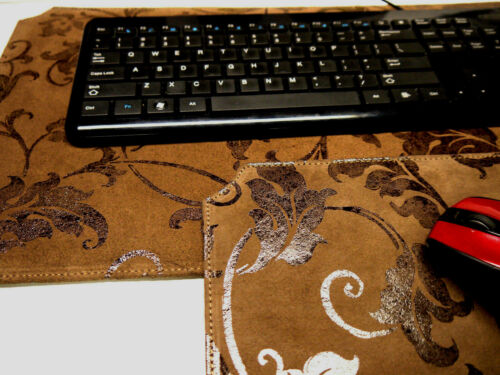 Leather Mouse pad & Key board set. Unique Design