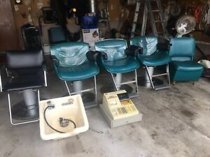 Hairstyling chairs - cash register- Belvedere sink- dryers -